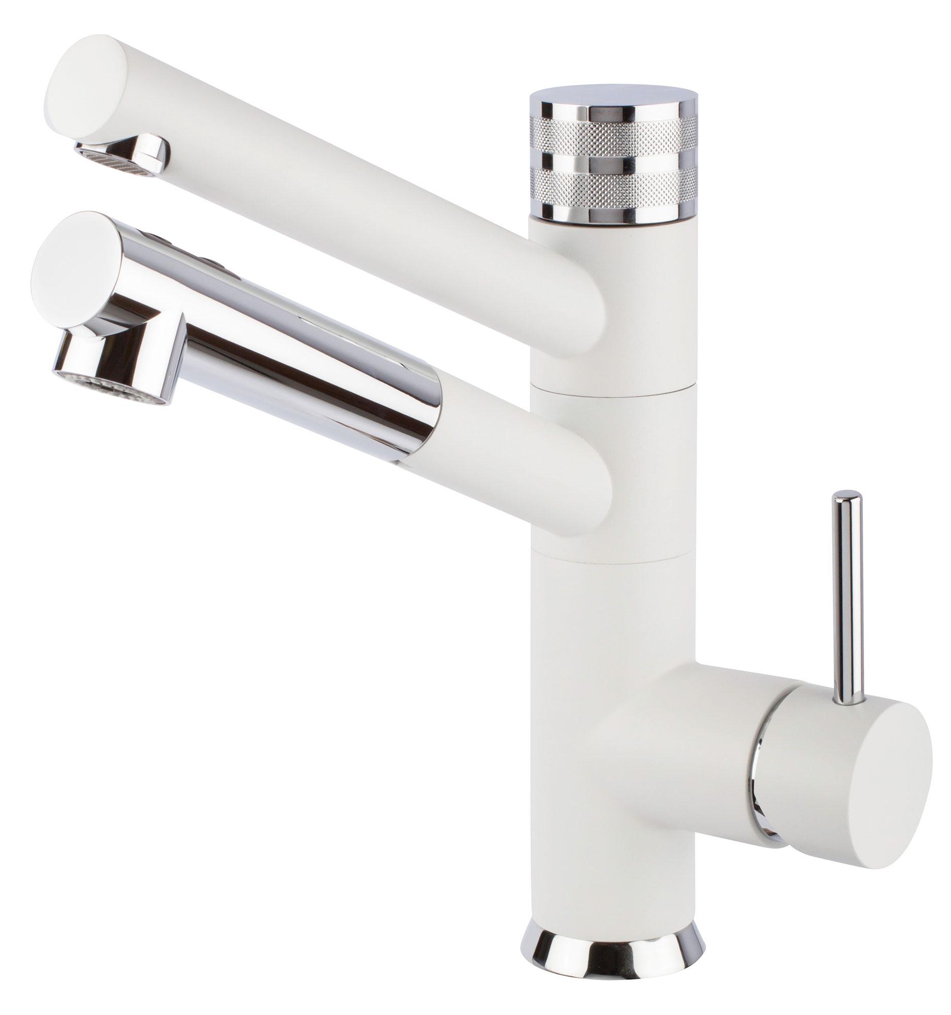 Hommix 3 way facuet friflow sicilia pull out spray white kitchen mixer zelal water