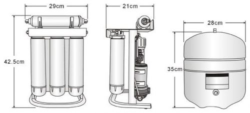 Pure Pro EZ-105P Green Series Pumped Reverse Osmosis Under sink Drinking Water Filter System