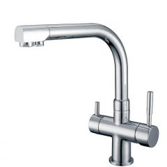 Hommix Berta Chrome 3-Way Tap (Triflow Tap) Modern Kitchen Filter Tap / Faucet