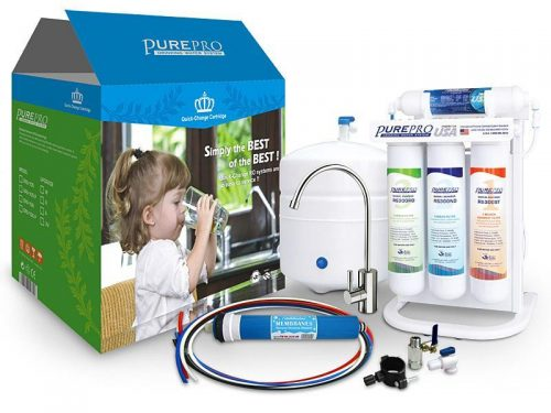 Pure-Pro EZ-105P 5-Stage With Booster Pump RO Drinking Water Filter System