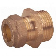 Straight Compression Coupling – 1″ Inch BSP x 22mm Compression