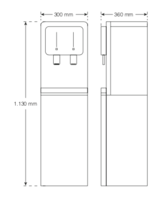 HOMMIX Blue Lake L Freestanding Water Dispenser (Non-Pumped)