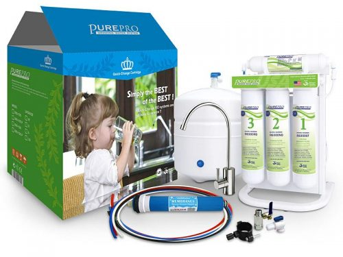 Pure Pro EZ-105P Green Series Non-Pumped Reverse Osmosis Under sink Drinking Water Filter System