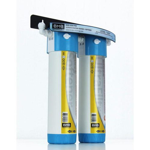 BMB Zada Pro Under Sink Inline Water Filter System with Hommix Tatiana Tall Copper 3-Way Triflow Tap
