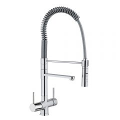 Hommix Miziana Tall Chrome 3 Way Tap (Triflow Tap) Pull Out Elegant Kitchen Filter Tap