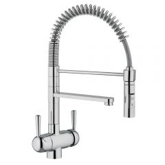 Hommix Tatiana Chrome 3-Way Tap (Triflow Tap) Spring Pull Out Elegant Kitchen Filter Tap