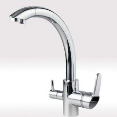 Hommix Vega Chrome 3 Way Tap (Triflow Tap) Elegant Kitchen Filter Tap